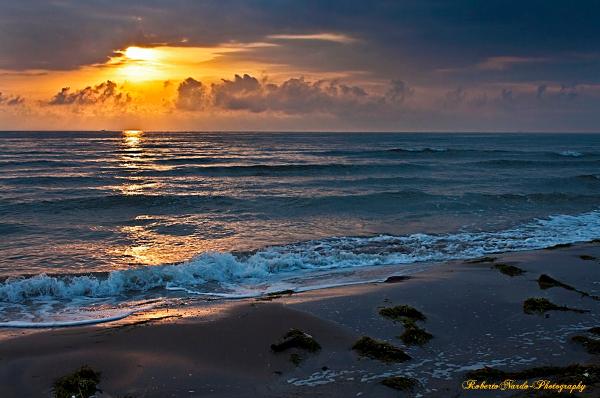 """(""""tramonto sulla spiaggia di Sottomarina"""")"""